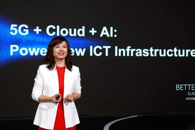 Jacqueline Shi, President of Huawei International Cloud & AI Business Dept, delivered a speech at BWS2020