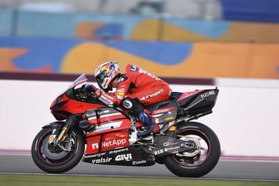 Ducati Desmosedici GP 2020 featuring Esaote's logo