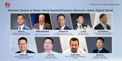 Keynote speakers from IDC, China Telecom Anhui, China Mobile Guangdong, China Telecom Ningxia, Turkcell, and Huawei