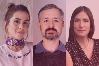De izquierda a derecha Veronica Orozco, Luis Villegas y Juliana Zerda (PRNewsfoto/WorldRemit)