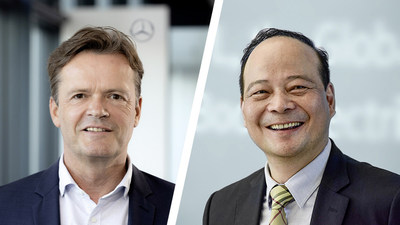 Left- Markus Schäfer, Member of the Board of Management of Daimler AG and Mercedes-Benz AG; Right-Dr. Robin Zeng, Founder, Chairman and CEO of CATL