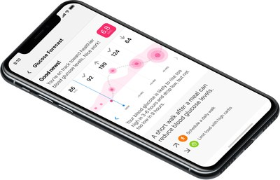 Automated Decision Support delivers glucose predictions up to 12 hours in advance