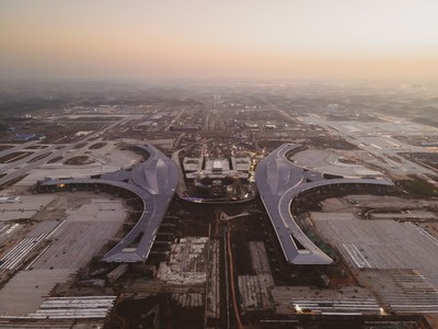 Chengdu Tianfu International Airport under construction