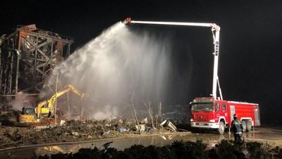 Día mundial de primeros auxilios 2020: XCMG presenta sus primeros vehículos de emergencia y rescate contra incendios. (PRNewsfoto/XCMG)