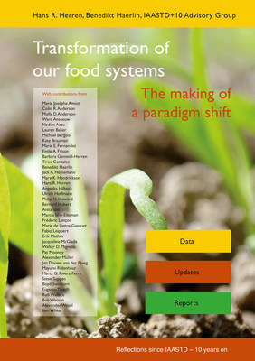 """Book cover """"Transformation of our food systems - The making of a paradigm shift""""; published September 2020 by a team of 40 international experts. Credits: Biovision Foundation / Foundation on Future Farming"""