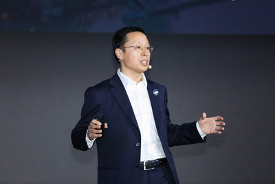 Discurso de apertura de Richard Jin, presidente de la línea de productos de acceso y transmisión de Huawei (PRNewsfoto/Huawei)