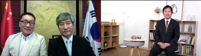 Mr. Kwok Yat Ming made a special video connection with Pastor Kim Chang Shi discussing the relationship between religion and politics in Korean society (PRNewsfoto/Channel One)