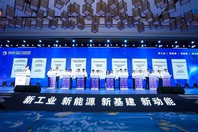 Fotografía tomada el día miércoles durante la Exposición WIEIE 2020 (Exposición Mundial 2020 de Internet para la Industria y la Energía y Exhibición Internacional de Equipos Industriales). (PRNewsfoto/Xinhua Silk Road Information Se)