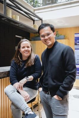 Fundadores de Casai: María del Carmen Herrerías, COO y Nico Barawid, CEO.