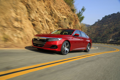 Widely regarded by experts as the benchmark midsize sedan, Honda raises the Accord's game for the 2021 model year with a refresh that includes updates to styling, technology, drivability and safety features. In addition, unique upgrades were made to performance and design for the ultra-efficient and refined Accord Hybrid. On-sale at Honda dealerships beginning tomorrow, the 2021 Accord carries a Manufacturer's Suggested Retail Price (MSRP) starting at $24,770 (excluding destination/handling).