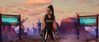 Omaira Molina, una contendiente venezolana de peso ligero de alto nivel, compite en la segunda temporada de Karate Combat, que se transmite los jueves a las 10 p. m. ET, en ESPN Deportes. Los combates se realizan en un mundo virtual creado por Unreal Engine. (PRNewsfoto/Karate Combat)