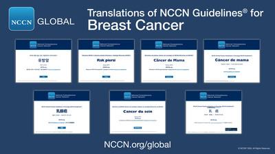 Guías NCCN Guidelines® sobre el cáncer de mama en idioma chino, francés, japonés, coreano, polaco, portugués y español.