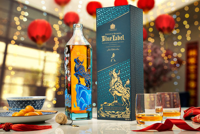 The new Johnnie Walker Blue Label Chinese New Year limited edition bottle and pack. (PRNewsFoto/Johnnie Walker)