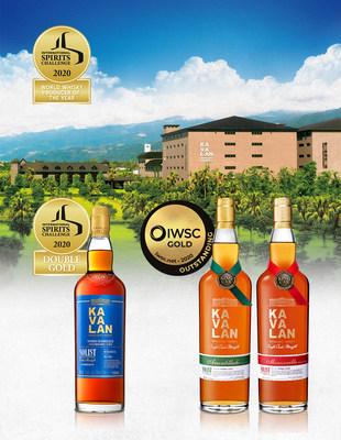 """El título de """"Productor Mundial de Whisky del Año"""" del ISC 2020 es para Kavalan, forjado en el Doble Oro otorgado a Solist Vinho Barrique. Solist Amontillado y Solist Manzanilla también obtuvieron Oro Sobresaliente de la IWSC."""