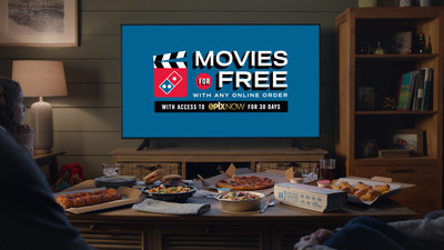 Domino's customers who order online now through April 11, 2021, will receive 30 days of free access to EPIX NOW – a premium streaming service with more than 2,000 movies and 300 hours of original series and specials.