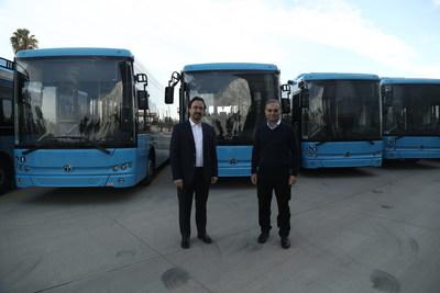 Left to right: TEMSA CEO Tolga Kaan Doğancıoğlu - Industry SBU President of Sabancı Holding Cevdet Alemdar