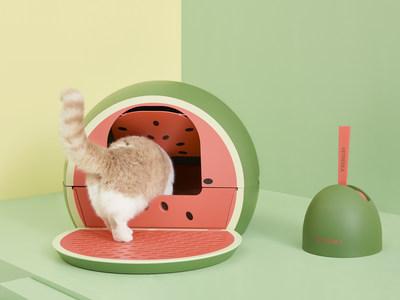Watermelon Cat Litter Box, Vetreska Hit Product, Distributed Globally