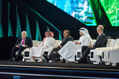 H.E. Yasir Al-Rumayyan, Governor of Saudi Arabia's Public Investment Fund and FII Institute Chairman, participates in FII 2019 with Mukesh Ambani, Chairman of Reliance, and other speakers. The FII Institute will host the 4th edition of the Future Investment Initiative (FII) on 27-28 January 2021.