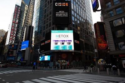 Maypharm's METOX at the Times Square Spectacular Digital Billboard